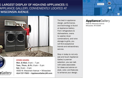 Appliance Gallery Postcard back