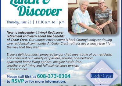 Cedar Crest ad