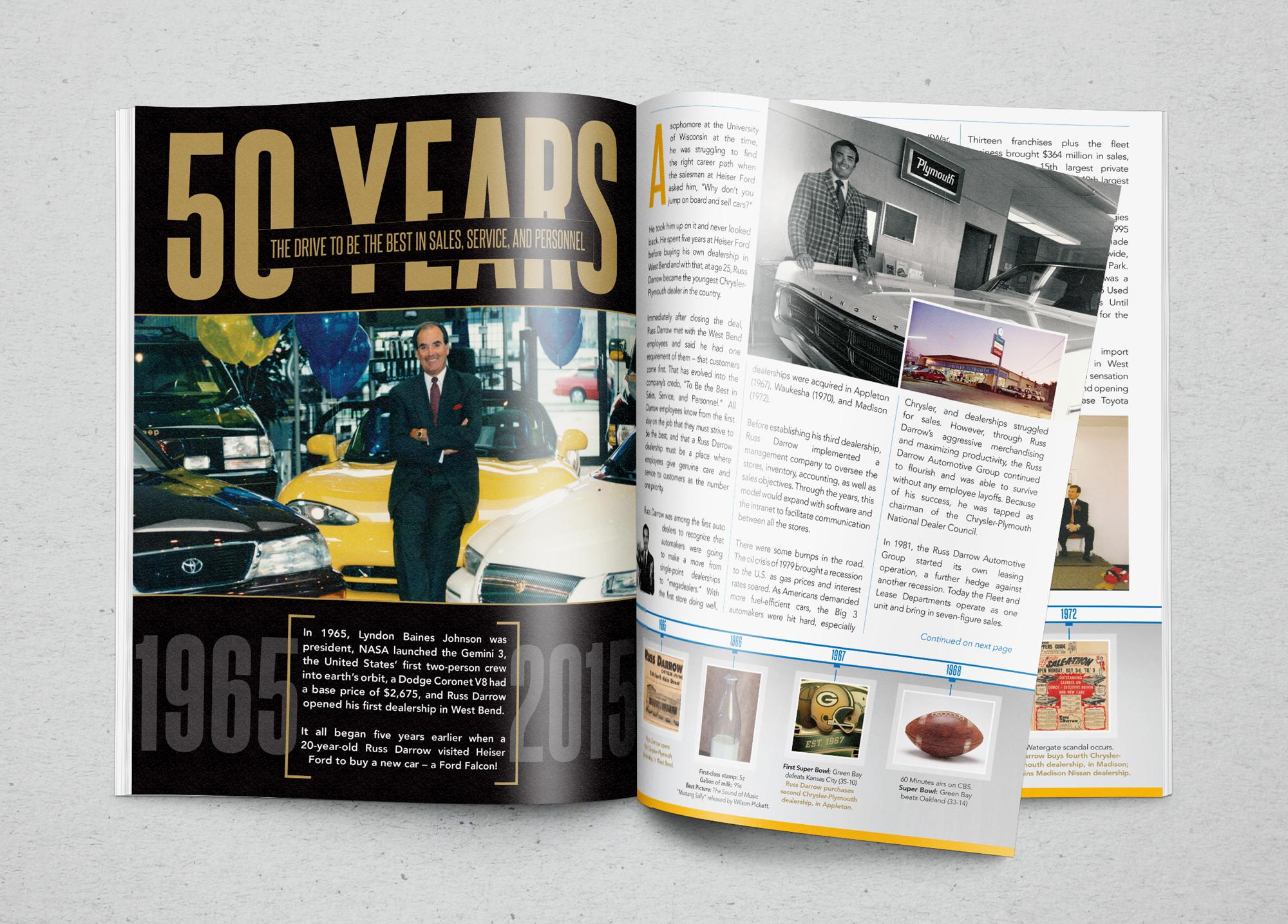 Russ darrow rspr marketing communications for Anniversary magazine